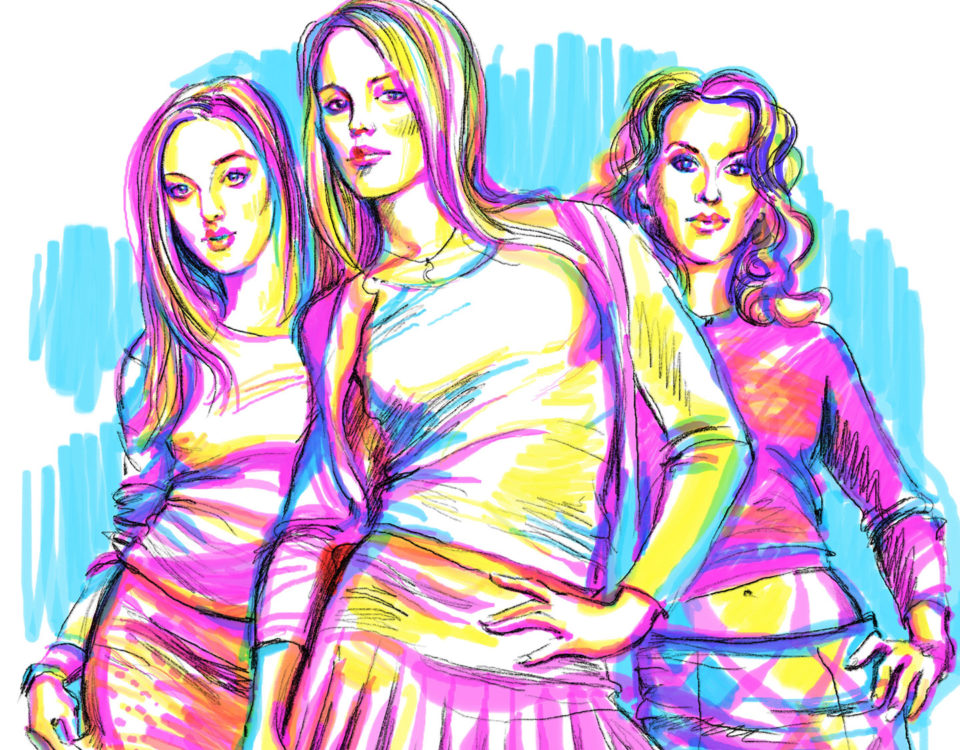 Marker drawing of Mean Girls - Popularity Explained
