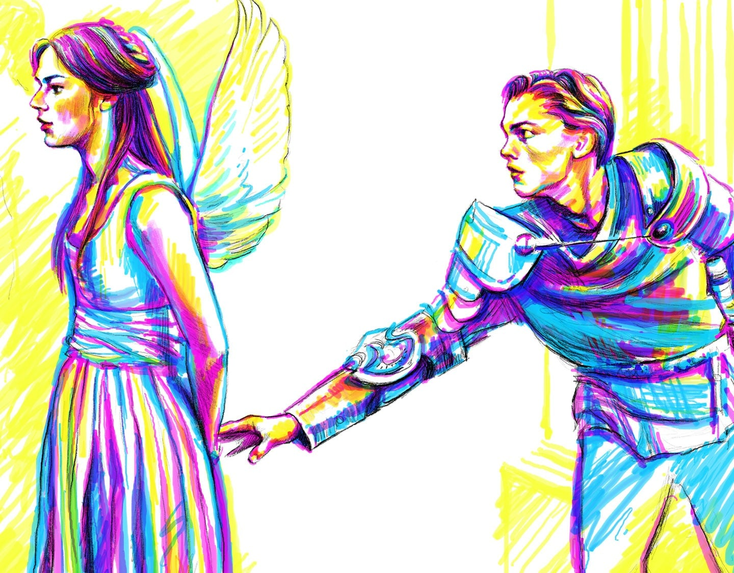 Marker drawing of Romeo and Juliet - Input of Energy